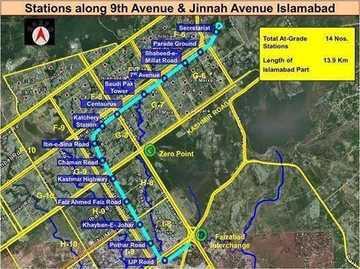 Islamabad Metrobus Stations