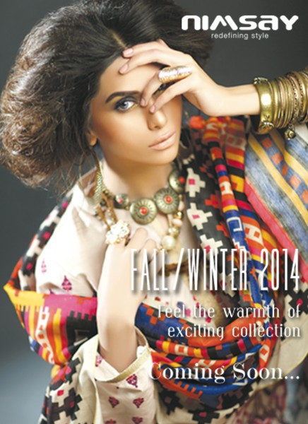 new dresses from Fall Winter Collection 2014-15 introduced by Nimsay.