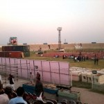 PTI Multan Jalsa View one day before