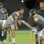 Saeed Ajmal going for biomechanic test with new bowling action.