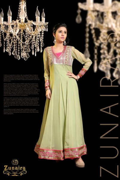Zunaira Lounge 2014 Winter Dress 1