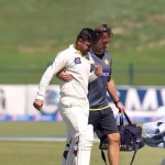 Ahmed Shehzad hit by Corey Andeson bouncer in 1st Test Match