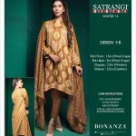 new designs of 3 piece suits and shawls for this winter season by Bonanza Garments.