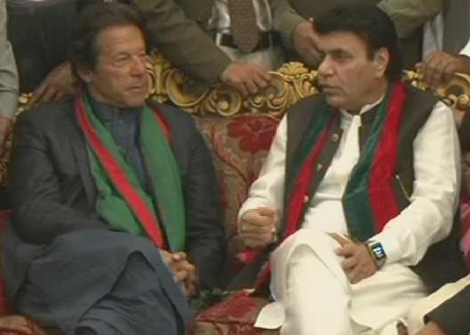 Ejaz Ahmad Chaudhry MNA with PTI Chairman Imran Khan