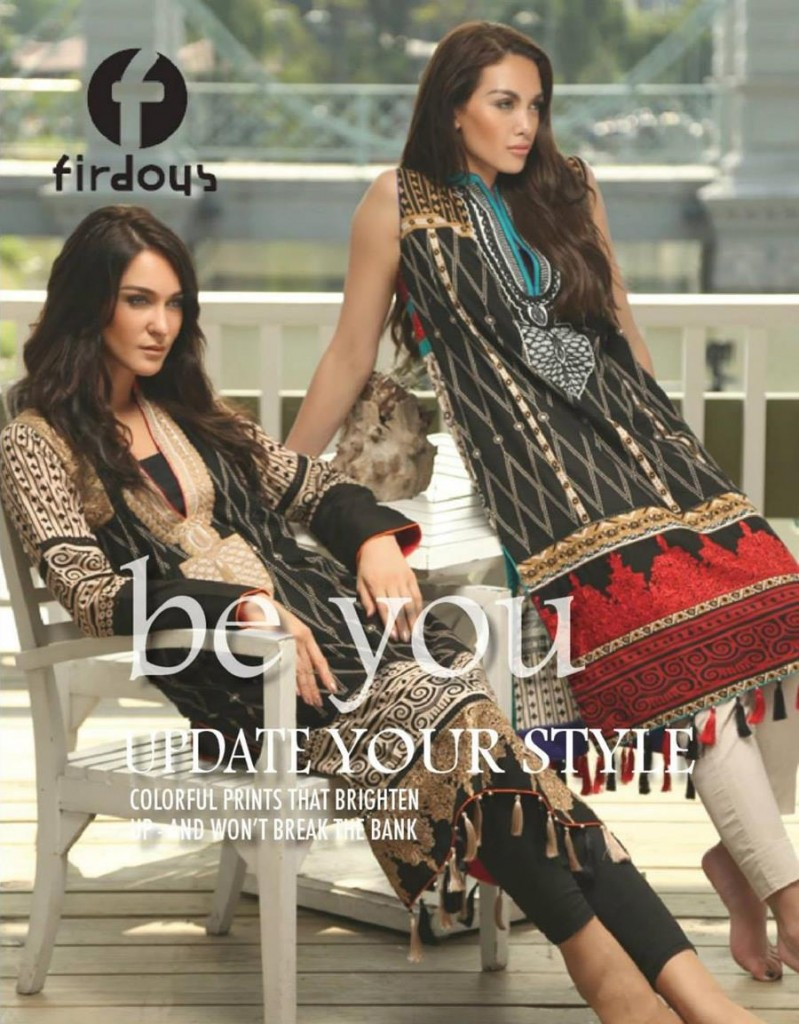 colorful winter dresses for women by Firdous Cloth Mills