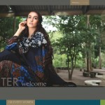 new Pashmina shawl dress by Firdous Cloth Mills for winter 2014-15
