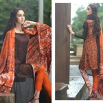 Firdous Pashmina 2014 Shawl Dress 7
