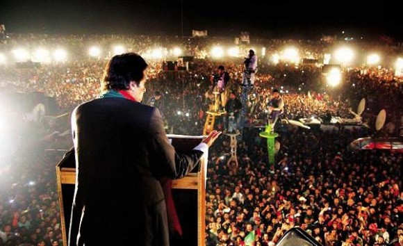 Imran Khan Jalsa in Gujranwala Cricket Stadium on 23-11-2014