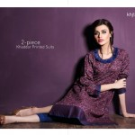 new unstitched winter dresses from Khaadi 2014