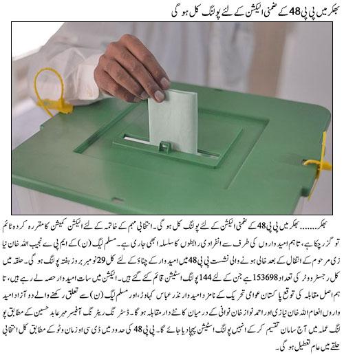 PP 48 Bhakkar By Election - Polling on Nov 29