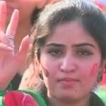 PTI Beautiful Girl in Islamabad Jalsa 2