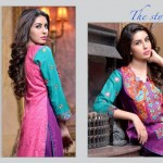 Rujhan Fabric 2014 Winter Dress 10