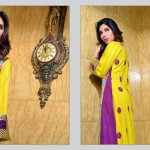 Rujhan Fabric 2014 Winter Dress 12