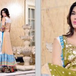 Rujhan Fabric 2014 Winter Dress 2