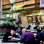 Tahir ul Qadri in Canada Subway Restourant