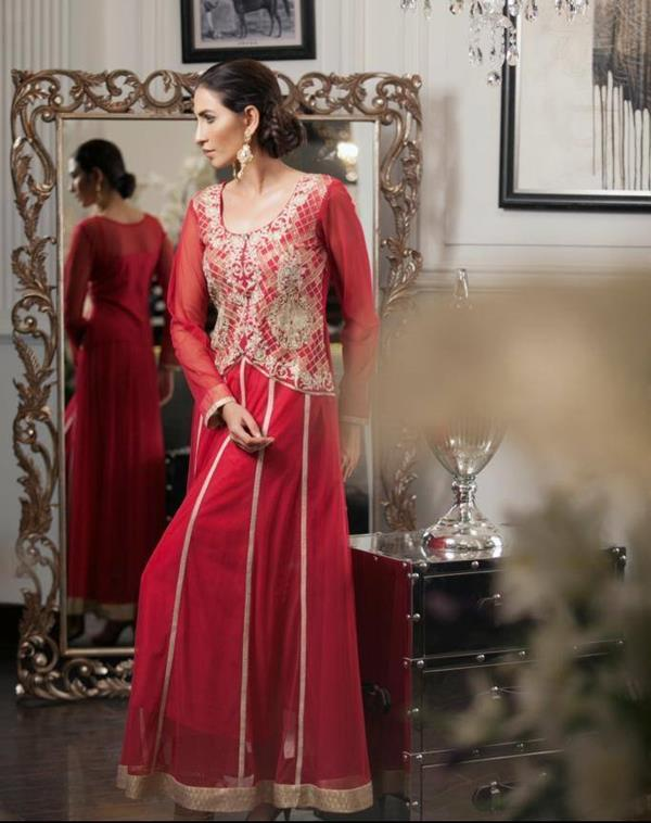 new partwear dresses for wedding parties by Threads & Motifs from their Fall Winter Collection 2014-15