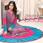 latest silk dresses from winter collection launched by Salams Textiles