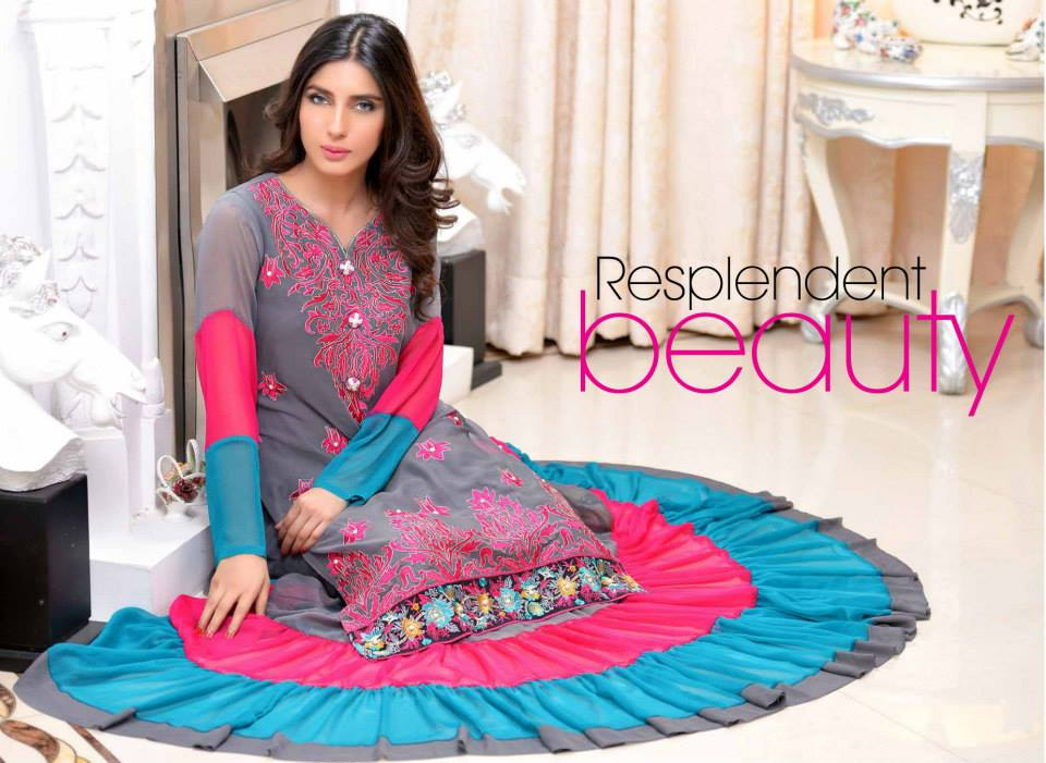 5d2c6df4a0 latest silk dresses from winter collection launched by Salams Textiles