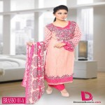 new line of shawl suits made of brasso fabric by Dawood Textiles for this winter season.