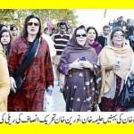 Imran Khan Sisters Haleema Khan, Naoreen Khan in PTI Jalsa