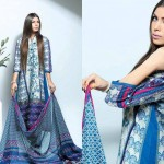 Noor Jahan Linen 2014 Dress 1