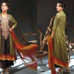 Noor Jahan Linen 2014 Dress 11