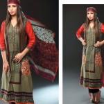 Noor Jahan Linen 2014 Dress 12