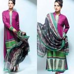 Noor Jahan Linen 2014 Dress 16