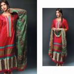 Noor Jahan Linen 2014 Dress 17