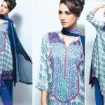 Noor Jahan Linen 2014 Dress 19