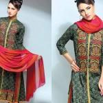 Noor Jahan Linen 2014 Dress 3