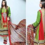 Noor Jahan Linen 2014 Dress 6
