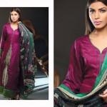 Noor Jahan Linen 2014 Dress 7