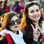 PTI Girls in Imran Khan Jalsa Islamabad 30 Nov 1