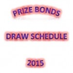 Prizebonds Draw Schedule 2015