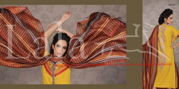 new shawl suits designed by Sana Samia launched by Lala Textiles
