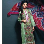 new line of linen dresses with pashmina shawls for this winter by eshAisha