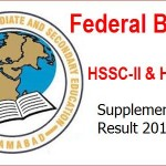 FBISE Announced HSSC Supplementary Result 2015