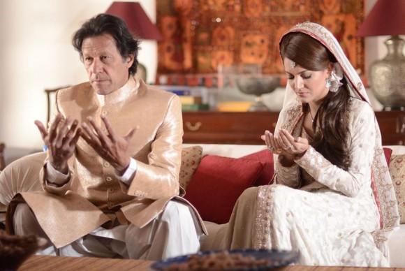 imran khan and reham khan wedding day photoshoot.