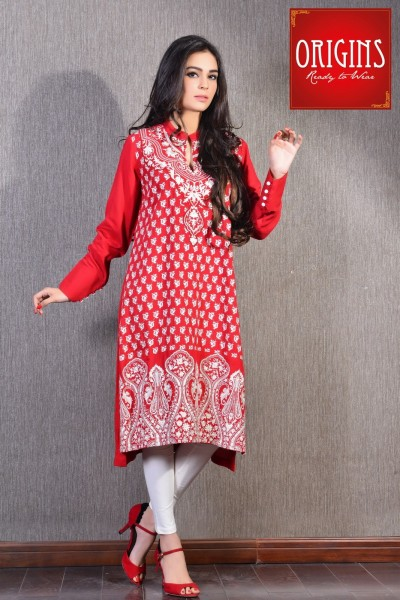 Origins launched Embroidered Kurti Collection 2015 for winter season.