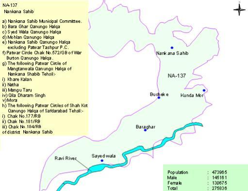 Area Map NA-137 Nankana Sahib