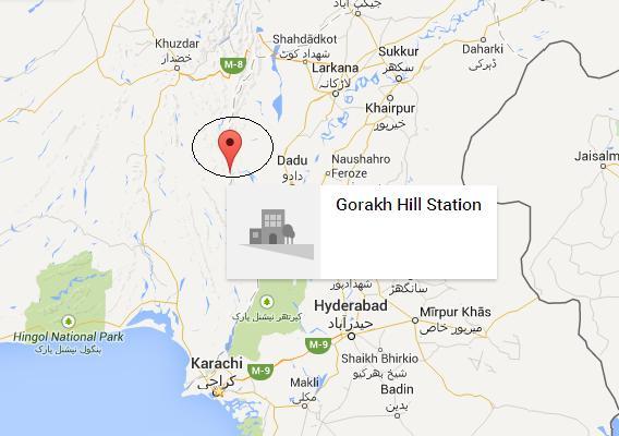 Gorakh Hill Station Dadu - Location Map