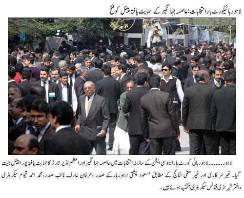 Lahore Bar Association Election Result 2015 - Aasma Jahangir Panel Wins