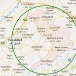 Map District Nankana Sahab in Punjab Province Near Faisalabad, Sheikhupura, Lahore (NA-137)