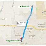 Metrobus Route BZU to Chungi No 6 Gulghasht Section