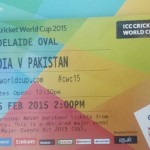 Pakistan-India match Ticket Snap