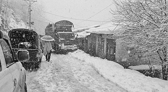Snowfall in Galiyat Murree