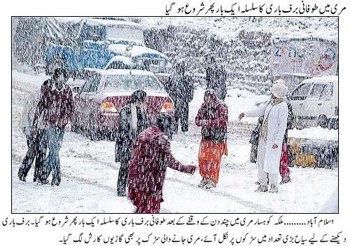 Snowfall in Murree in Feb 2015