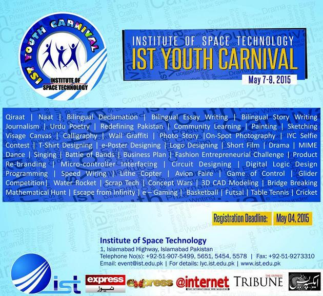 IST Youth Carnival Islamabad (May 7-9, 2015)