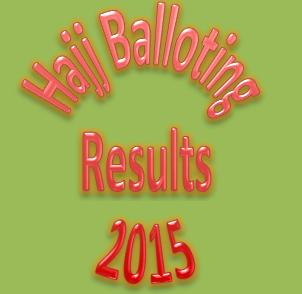 Hajj Balloting Result 2015